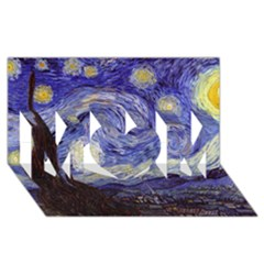 Van Gogh Starry Night Mom 3d Greeting Card (8x4)  by MasterpiecesOfArt