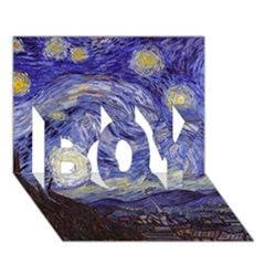 Van Gogh Starry Night Boy 3d Greeting Card (7x5) by MasterpiecesOfArt