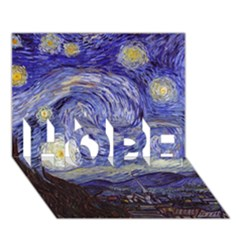 Van Gogh Starry Night Hope 3d Greeting Card (7x5)  by MasterpiecesOfArt