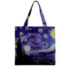 Van Gogh Starry Night Grocery Tote Bags by MasterpiecesOfArt