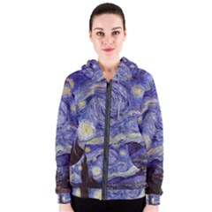 Van Gogh Starry Night Women s Zipper Hoodies by MasterpiecesOfArt