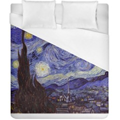 Van Gogh Starry Night Duvet Cover Single Side (Double Size) by MasterpiecesOfArt