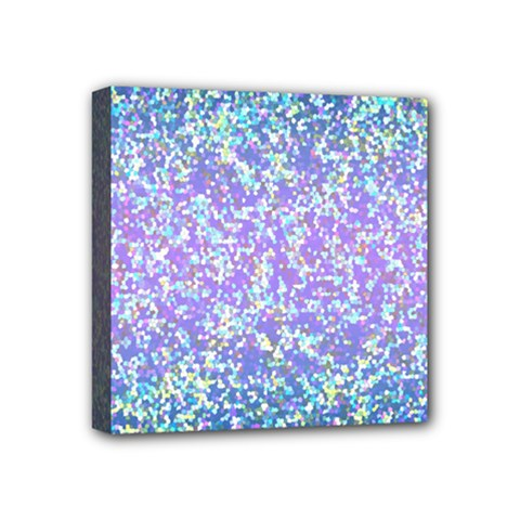 Glitter 2 Mini Canvas 4  X 4  by MedusArt
