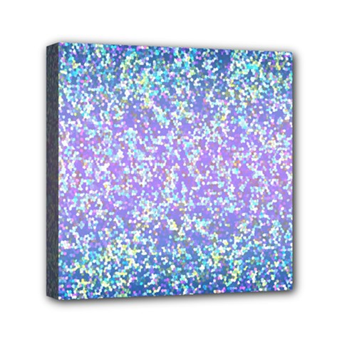 Glitter 2 Mini Canvas 6  X 6  by MedusArt
