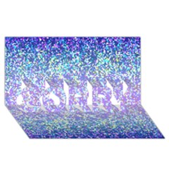 Glitter 2 Sorry 3d Greeting Card (8x4)