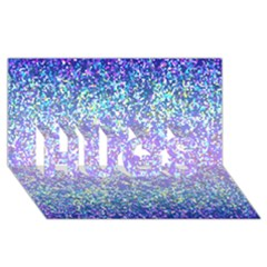 Glitter 2 Hugs 3d Greeting Card (8x4)  by MedusArt