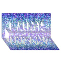 Glitter 2 Laugh Live Love 3d Greeting Card (8x4)  by MedusArt