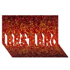 Glitter 3 Best Bro 3d Greeting Card (8x4)