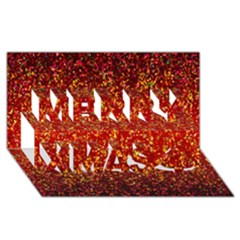 Glitter 3 Merry Xmas 3d Greeting Card (8x4)  by MedusArt