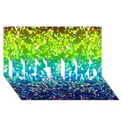 Glitter 4 Best Bro 3d Greeting Card (8x4)