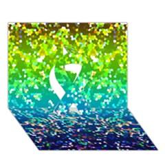 Glitter 4 Ribbon 3d Greeting Card (7x5)  by MedusArt