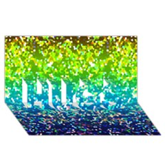 Glitter 4 Hugs 3d Greeting Card (8x4)