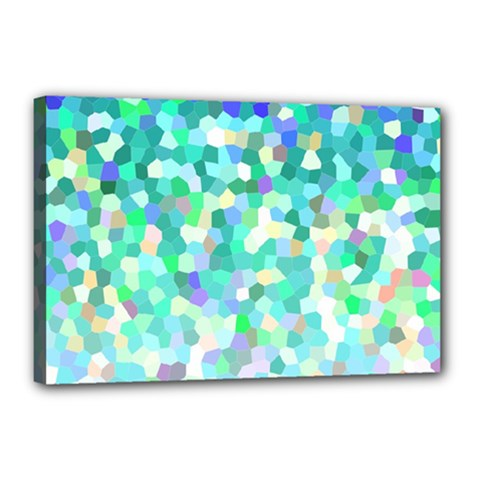 Mosaic Sparkley 1 Canvas 18  X 12  by MedusArt