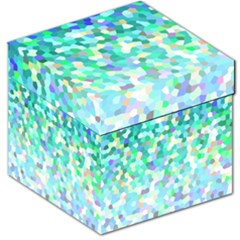Mosaic Sparkley 1 Storage Stool 12   by MedusArt