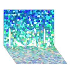 Mosaic Sparkley 1 I Love You 3d Greeting Card (7x5)  by MedusArt