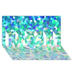 Mosaic Sparkley 1 Mom 3d Greeting Card (8x4)  by MedusArt