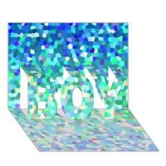 Mosaic Sparkley 1 Boy 3d Greeting Card (7x5) by MedusArt