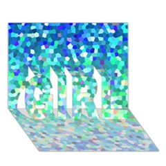 Mosaic Sparkley 1 Girl 3d Greeting Card (7x5)  by MedusArt