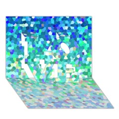 Mosaic Sparkley 1 Love 3d Greeting Card (7x5)  by MedusArt