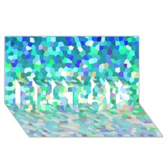 Mosaic Sparkley 1 Best Sis 3d Greeting Card (8x4)  by MedusArt