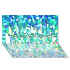 Mosaic Sparkley 1 Best Wish 3d Greeting Card (8x4)  by MedusArt