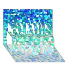 Mosaic Sparkley 1 Thank You 3d Greeting Card (7x5)  by MedusArt