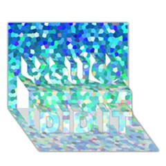 Mosaic Sparkley 1 You Did It 3d Greeting Card (7x5) by MedusArt