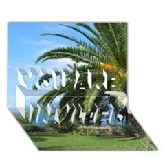Sunny Tenerife You Are Invited 3d Greeting Card (7x5)  by MoreColorsinLife