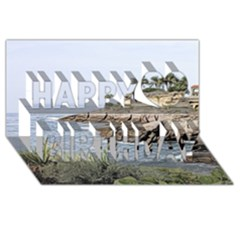 Tenerife,painted Version Happy Birthday 3d Greeting Card (8x4)  by MoreColorsinLife