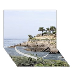 Tenerife,painted Version Heart Bottom 3d Greeting Card (7x5)