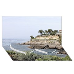 Tenerife,painted Version Twin Heart Bottom 3d Greeting Card (8x4)