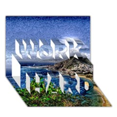 Tenerife 12 Effect Work Hard 3d Greeting Card (7x5)