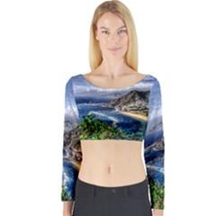 Tenerife 12 Effect Long Sleeve Crop Top by MoreColorsinLife