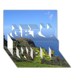 Tenerife 09 Get Well 3d Greeting Card (7x5)