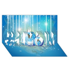 Wonderful Christmas Ball With Reindeer And Snowflakes #1 Mom 3d Greeting Cards (8x4)