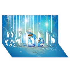 Wonderful Christmas Ball With Reindeer And Snowflakes #1 Dad 3d Greeting Card (8x4)  by FantasyWorld7