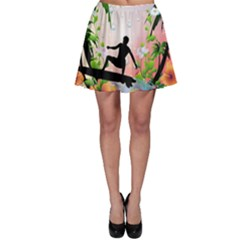 Tropical Design With Surfboarder Skater Skirts by FantasyWorld7