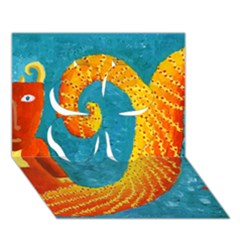 Capricorn Zodiac Sign Clover 3d Greeting Card (7x5)  by julienicholls