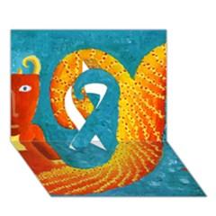 Capricorn Zodiac Sign Ribbon 3d Greeting Card (7x5)  by julienicholls