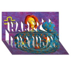 Libra Zodiac Sign Happy Birthday 3d Greeting Card (8x4)  by julienicholls
