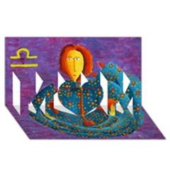 Libra Zodiac Sign Mom 3d Greeting Card (8x4)  by julienicholls