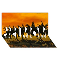 Sunset Over The Beach #1 Mom 3d Greeting Cards (8x4)