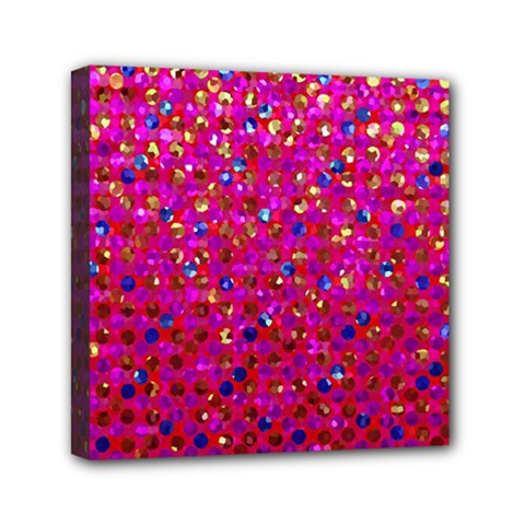 Polka Dot Sparkley Jewels 1 Mini Canvas 6  X 6  by MedusArt