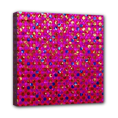 Polka Dot Sparkley Jewels 1 Mini Canvas 8  X 8  by MedusArt