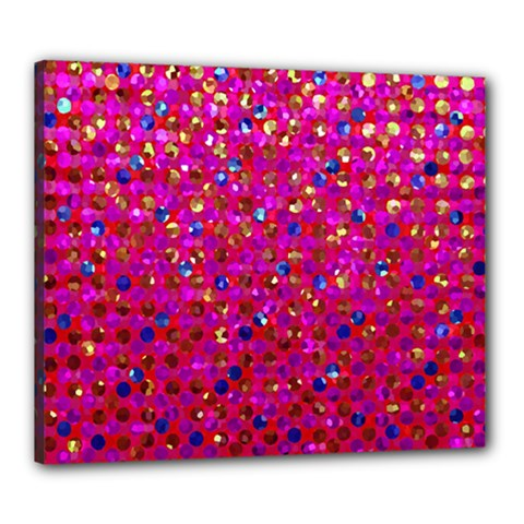 Polka Dot Sparkley Jewels 1 Canvas 24  X 20  by MedusArt
