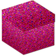 Polka Dot Sparkley Jewels 1 Storage Stool 12   by MedusArt