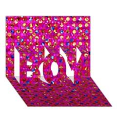 Polka Dot Sparkley Jewels 1 Boy 3d Greeting Card (7x5) by MedusArt
