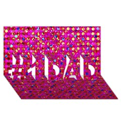 Polka Dot Sparkley Jewels 1 #1 Dad 3d Greeting Card (8x4)  by MedusArt