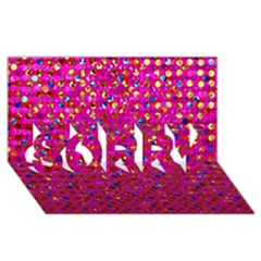 Polka Dot Sparkley Jewels 1 Sorry 3d Greeting Card (8x4)