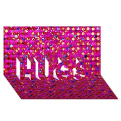Polka Dot Sparkley Jewels 1 Hugs 3d Greeting Card (8x4)  by MedusArt